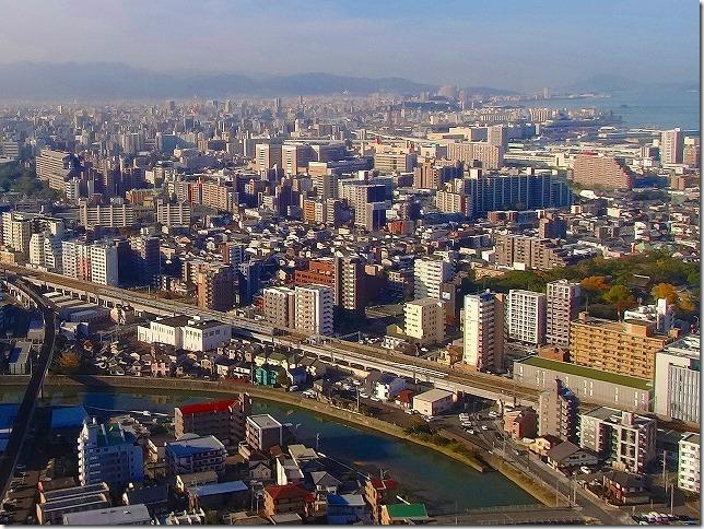福岡市内上空