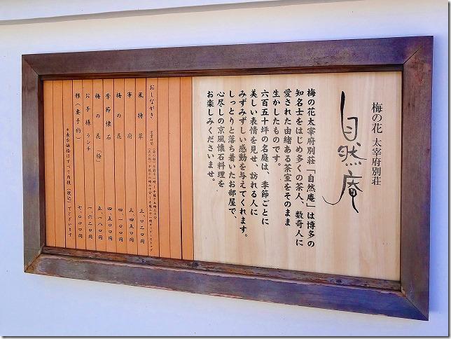 梅の花 太宰府別荘 自然庵