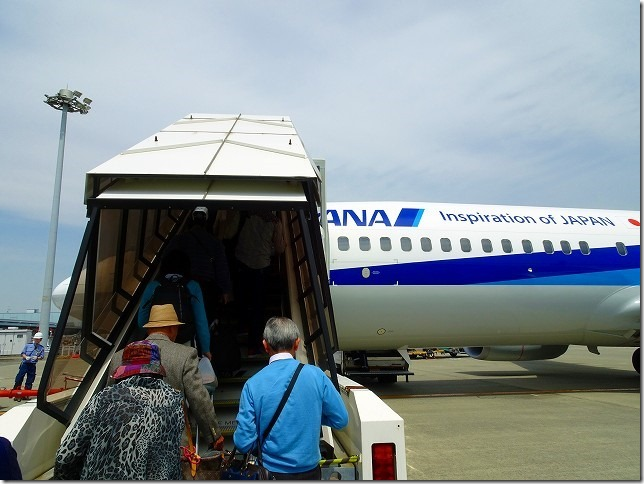 オホーツク紋別空港行き ANA375便
