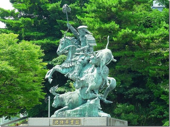 小田原駅 北条早雲 銅像
