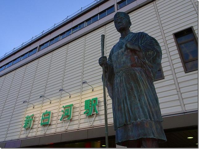 新白河駅 松尾芭蕉像