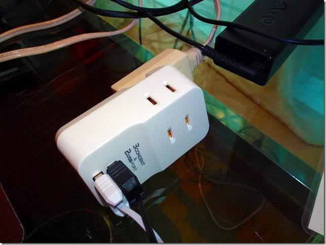 3個口 コンセントタップ&USB充電 2ポート