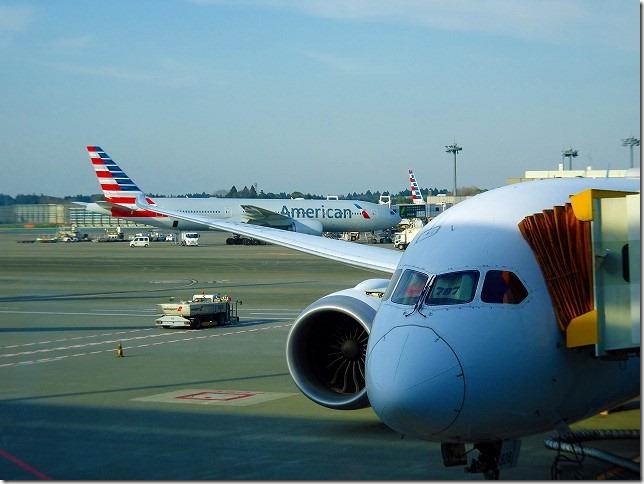 成田空港 JL66 サンディエゴ ボーイング787