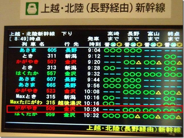 東京駅 かがやき 509号
