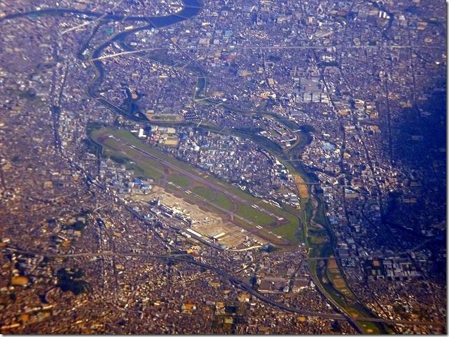 大阪上空 伊丹空港